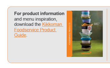 Kikkoman Foodservice Product Guide